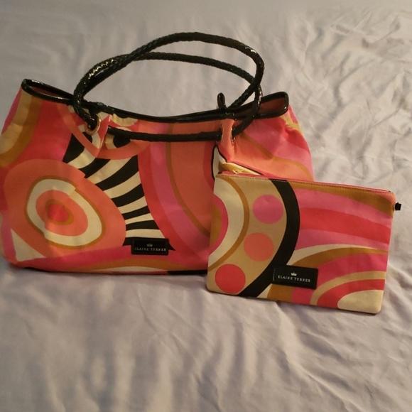 Elaine Turner Handbags - Vintage Elaine Turner Multicolor Canvas Tote